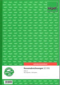Kassenabrechnungen SD 006